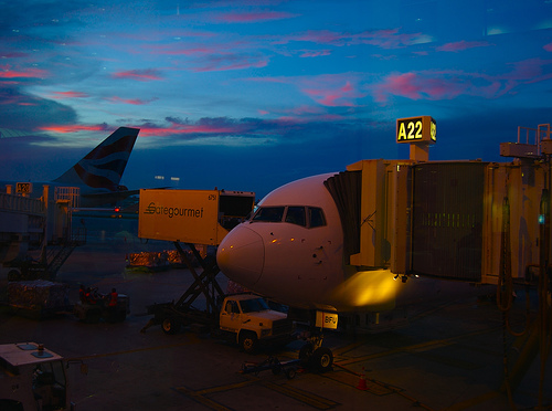 Plane to Buenos Aires at Sunset, September 2007